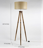 Craftter Brown Fabric Tripod Floor Lamp