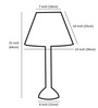 Craftter Dark Khadi Wooden Table Lamp