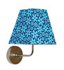 Craftter Pretty Flowers Blue Square Fabric Wall Lamp