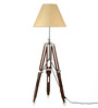 Craftter Hand Woven Brown Fabric Tripod Floor Lamp