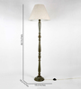 Craftter Off White Fabric Floor Lamp