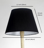 Craftter Black Acrylic Fused with Cloth Plain Floor Lamp Shade