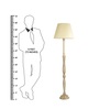 Craftter Plain Bright Yellow Wooden Floor Lamp