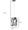 Craftter White & Black Acrylic & Metal Hanging Lamp