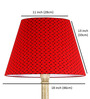 Craftter Black & Red Acrylic Fused with Cloth Small Booti Floor Lamp Shade