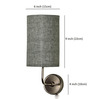 Craftter Off Grey Round Upward Wall Lamp