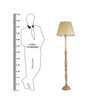 Craftter Textured Bright Yellow Wooden Floor Lamp