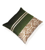 Creative Homez Green Polyester 16 x 16 Inch Geometric Cushion Cover