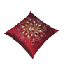 Creative Homez Red Polyester 16 x 16 Inch Embroidery Cushion Cover