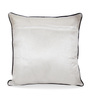 Creative Homez White Polyester 16 x 16 Inch Embroidered Cushion Cover