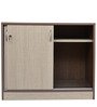 Credenza Table with Sliding Shutter in Wenge & Highland Pine Colour by Crystal Furnitech