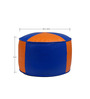 Criss Cross Round Pouffe with Beans in Orange N BlueColour by Siwa Style