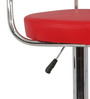 Crocian Bar Chair in Red Color by The Furniture Store