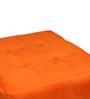 Cronaland Square Ottoman in Orange Colour by SIWA Style