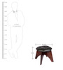Cross Stool in Walnut Finish by Evok