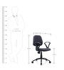 Crystal Ergonomic Chair in Black Colour by Oblique
