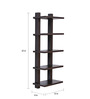 Crystal Furnitech Wenge Engineered Wood 5 Tier Wall Shelf