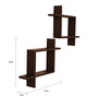 Crystal Furnitech Wenge Engineered Wood Wall Shelves - Set of 2