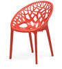 Crystal Polypropylene Chair in Bright Red Colour by Nilkamal