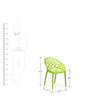 Crystal Polypropylene Chair in Lime Green Colour by Nilkamal