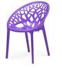Crystal Polypropylene Chair in Violet Colour by Nilkamal