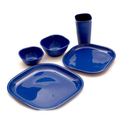 Cutting Edge 25pcs Microwavable Square Dinner Set - Blue