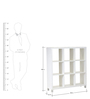 Yuma Cube Cabinet in White Color by Mintwud