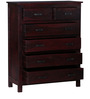 Atlanta Chest of Drawers in Passion Mahogany Finish by Woodsworth