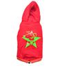 CV Star Red  & Green Dog Hoodie, 18 size