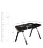 D Desk Study Table in Black Colour by Tube Style