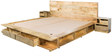Dayton King Bed with Bedside Tables in Natural Mango Finish by Woodsworth