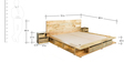 Dayton Queen Bed with Bedside Tables in Natural Mango Finish by Woodsworth