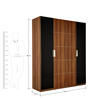 Daffodil Four Door Wardrobe in Brown Colour by Royal Oak