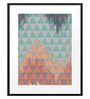 DailyObjects Paper Abstract Geometry Framed Art Print