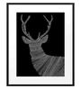 DailyObjects Paper Aztec Dark Stag Framed Art Print