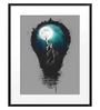 DailyObjects Paper Big City Lights Framed Art Print