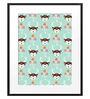 DailyObjects Paper Blossom Deer Framed Art Print
