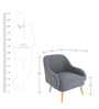 Dairlia Accent Chair in Grey Colour by Madesos