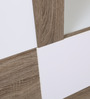 Daisy Wall Unit in Light Oak & White Colour by HomeTown