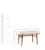 Daniel Modern Study Desk in White & Brown Colour by Asian Arts