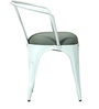Danlou White Colour Iron Chair with Cushion by Bohemiana