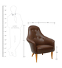 Dapper Leatherette Accent Chair with Comfortable Arms in Brown Colour by Afydecor