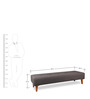 Darwin Bench in Brown Colour by Forzza