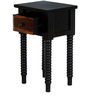 Darwin End table in Espresso Walnut Finish by Amberville