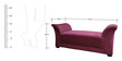 Designer Two Seater Sette in Maroon Colour by RVF