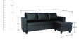 Devise Modular (RHS/LHS) Lounger Sofa in Black Colour by Elegant Furniture