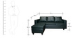 Devise Modular RHS Lounger Sofa in Bottle Green Colour by Elegant Furniture