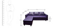 Devise Modular RHS Lounger Sofa in Purple Colour by Elegant Furniture