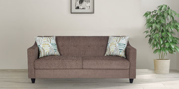 Derby Three Seater Sofa In Grey Colour By Urban Living