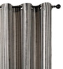 Deco Essential Black Polyester 46 x 90 Inch Jacquard Eyelet Door Curtain - Set of 2